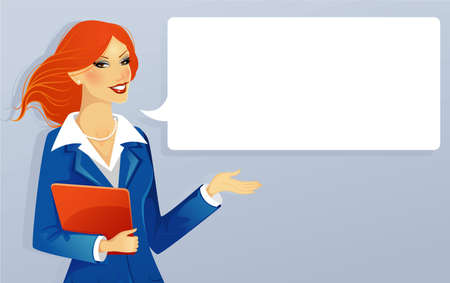 Vector illustration of Businesswoman speaking Vector