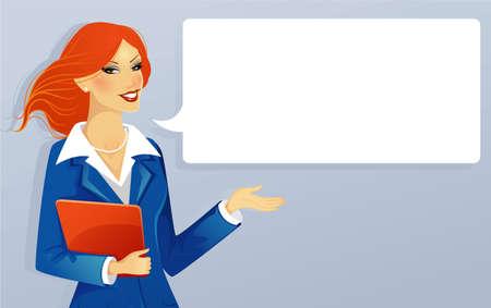 Vector illustration of Businesswoman speaking Stock Vector - 15174903