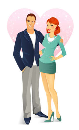 Vector illustration of love couple Illustration