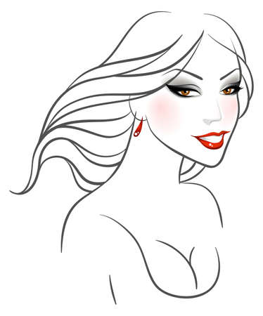 Vector illustration of Beauty woman pic Stock Vector - 15174873