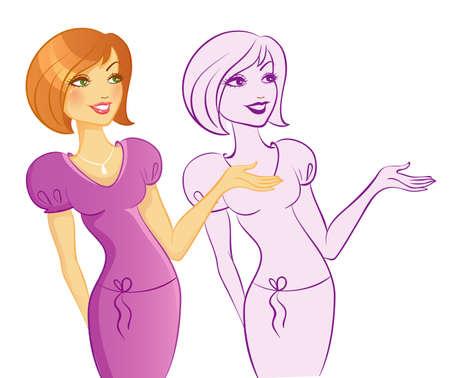 Vector illustration of Beauty woman Stock Vector - 15174935