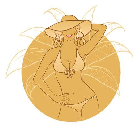 Vector illustration of Sunny woman Stock Vector - 15174934