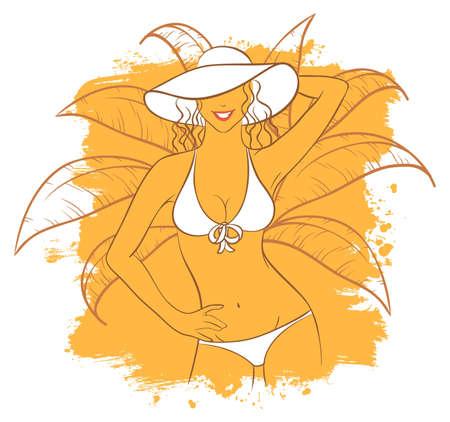 Vector illustration of Sunny woman Stock Vector - 15163903