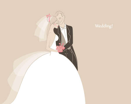 Vector illustration of Wedding Illusztráció
