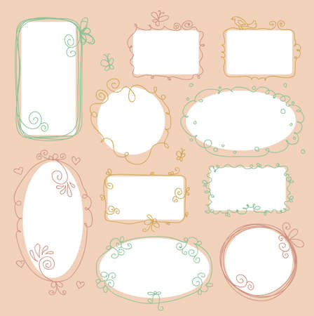 Vector illustration of Vintage frames Vector