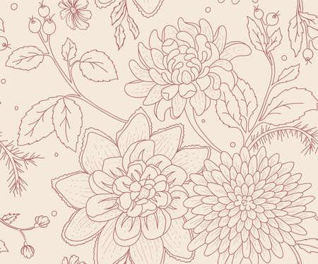 Vector illustration of Floral seamless pattern Vector