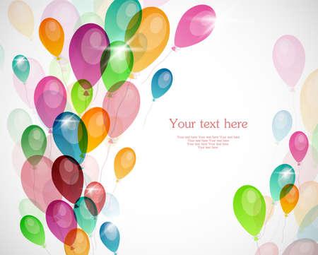Achtergrond met gekleurde ballonnen Vector Illustratie