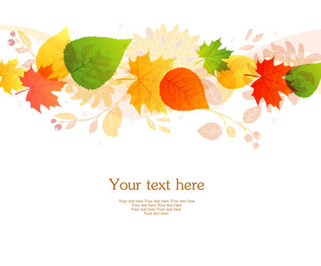illustration of Autumn leafs back Stock Vector - 15507252
