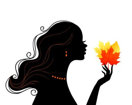 bijuteri: Güzellik kadının illüstrasyon
