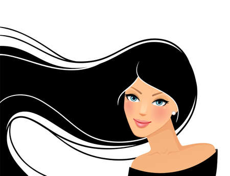 illustration of Beauty woman pic Vector