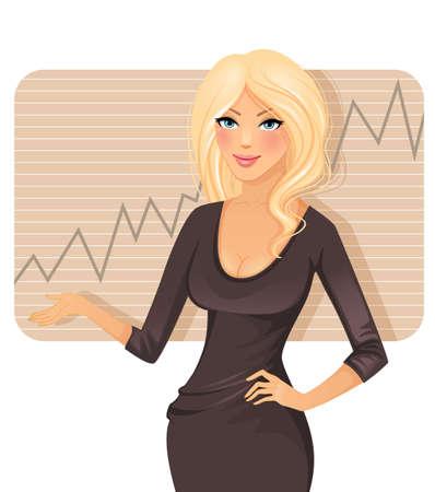office lady: illustration of Businesswoman Illustration