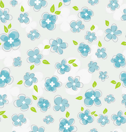 sketch pattern: illustration of Floral seamless pattern