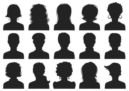 Man and woman avatars  向量圖像