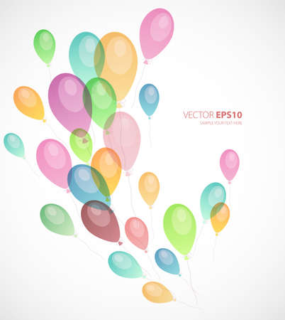 colored balloons: illustration of Background with colored balloons  Illustration