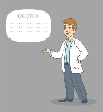 family physician: Vector illustration of doctor