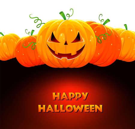 halloween k�rbis: Vektor-Illustration der Halloween-K�rbis
