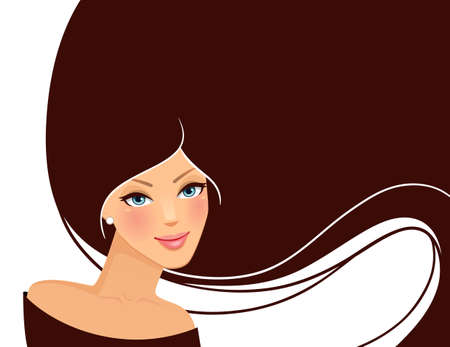 illustration of Beauty woman pic Stock Vector - 15567300