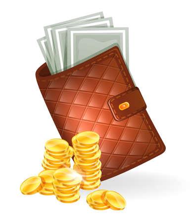 ilustración de Monedero con billetes