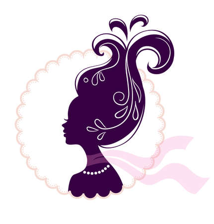 illustration of Beautiful woman pic