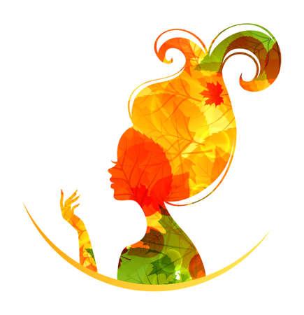 Illustration der schönen Herbst Frau
