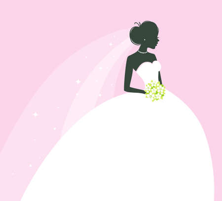 bride groom: illustration of Beautiful bride