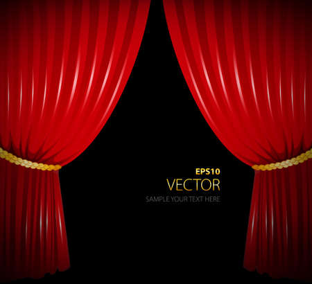 illustration of Red curtain Vector