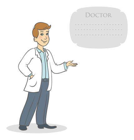 healthcare workers: illustration of Doctor Illustration