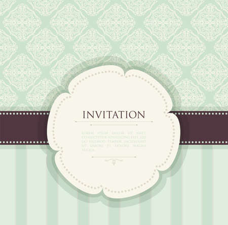 illustration of Invitation vintage background Vector