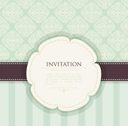 wed:  illustration of Invitation vintage background