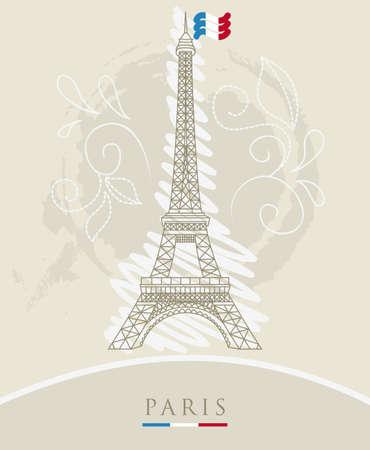 Illustration der Eiffelturm Vektorgrafik