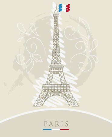 tour eiffel:  illustration of Eiffel tower