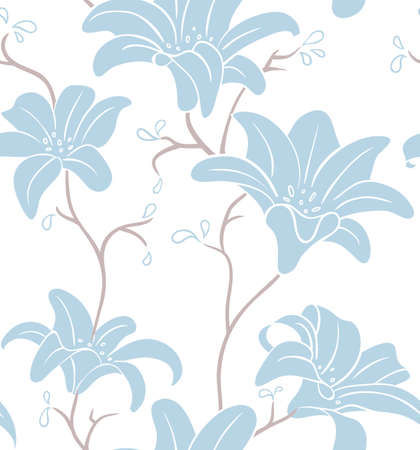 illustration of Floral seamless pattern Vector