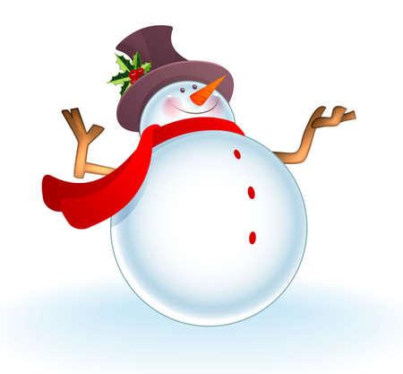 boule de neige: illustration de bonhomme de neige de Noël
