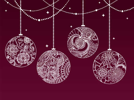 illustration of Christmas balls Vector