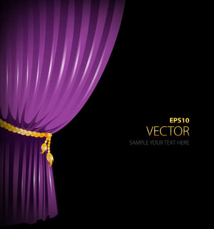 illustration of purple curtains Vector