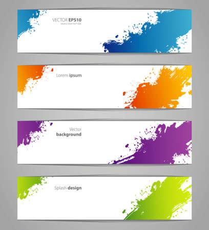 wet paint:  illustration of Splash designs