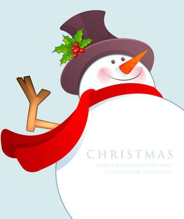 bonhomme de neige: Vector illustration de bonhomme de neige de Noël Illustration