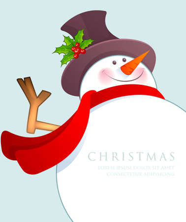the snowman: Vector illustration of Christmas Snowman