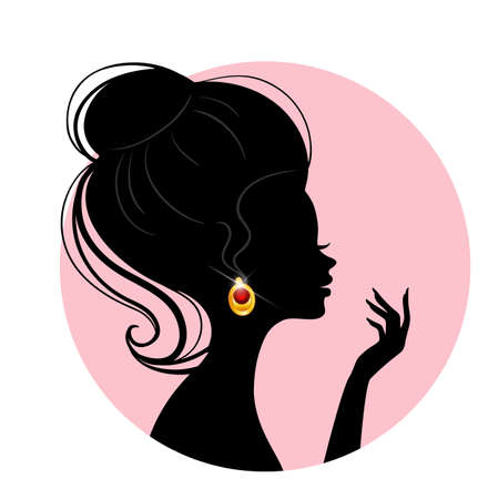 Vector illustration of Beautiful silhouette woman Stock Vector - 15798581