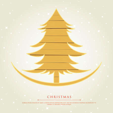 Vector illustration of Stylized xmas tree Stock Vector - 15798517