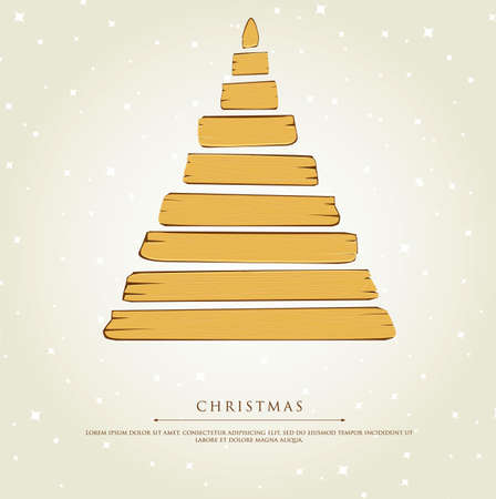 illustration of Stylized xmas tree Stock Vector - 15889900