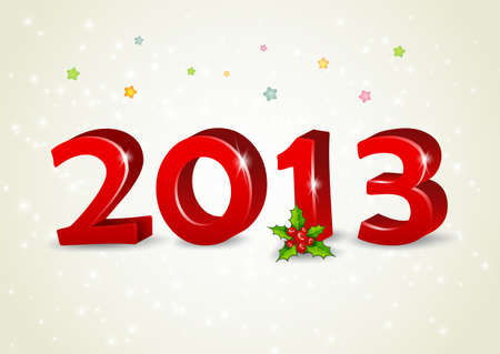 illustration of Happy new year 2013 Vector