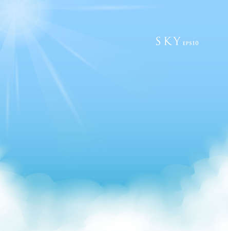 pamphlet: illustration of Sky with clouds