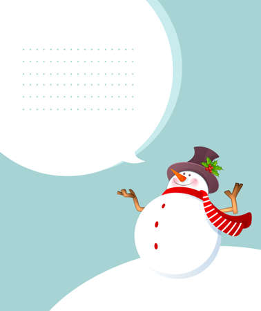 snowman background: illustration of Christmas smiling Snowman