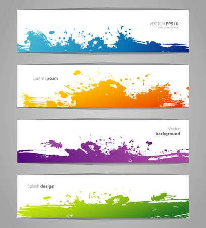 watercolor splash: Vector illustration of Vegetables colorful doodles set