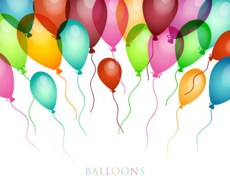 colored balloons: Vector illustration of Background with colored balloons