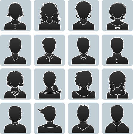 illustration of Man and woman avatars Vector