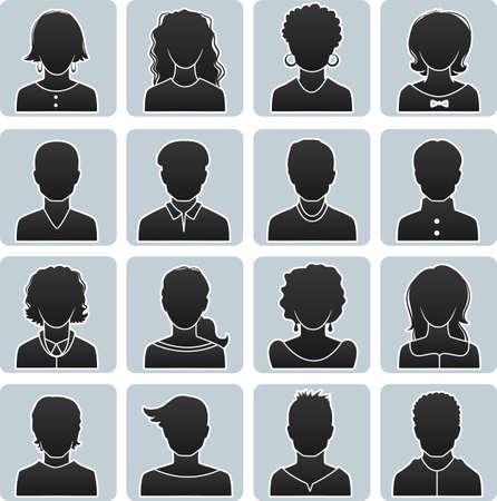 avatars: illustrazione di avatar uomo e la donna