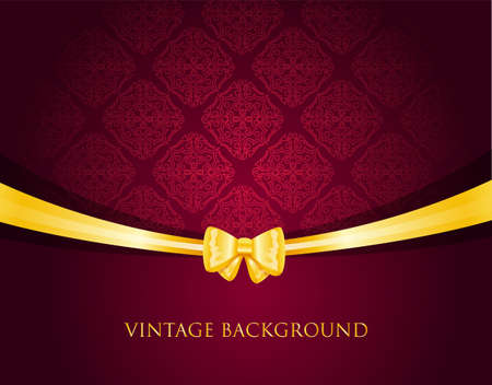 illustration of Vintage background with bow Vector