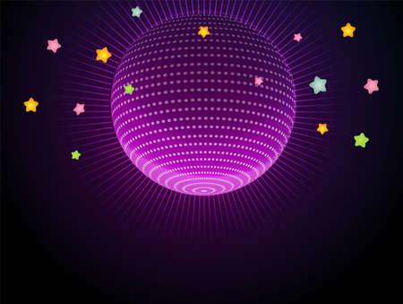 Mirror Ball: illustration of Abstract glow disco ball Illustration